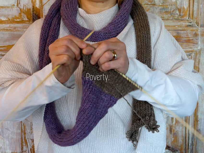 Poverty Knitting - Empathy object #1.b