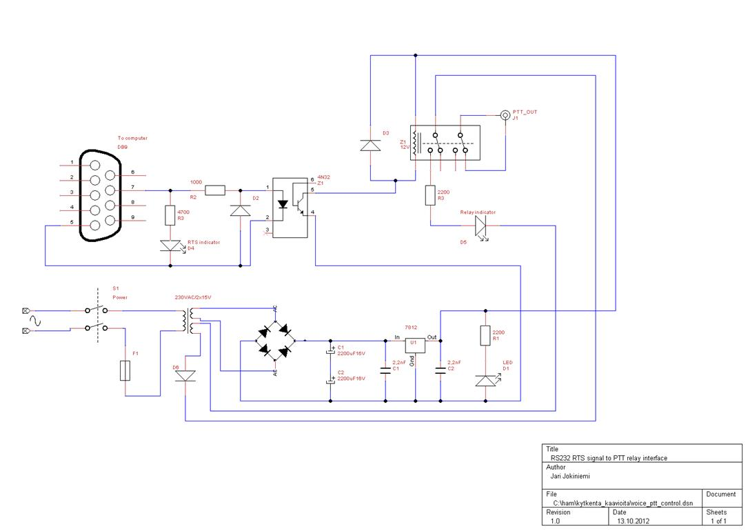 Computer Control Of The Last Dinosaur Amplifier Optoisolator Circuit Diagram Figure 2 Ptt For Voicekeyer